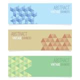 abstrakcjonistyczni sztandary ustawiają trzy Zdjęcia Royalty Free