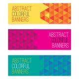 abstrakcjonistyczni sztandary ustawiają trzy Obraz Stock