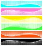 abstrakcjonistyczni sztandary ustawiający Zdjęcie Royalty Free