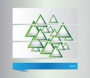 Abstrakcjonistyczni sztandary z trójbokami Obrazy Stock