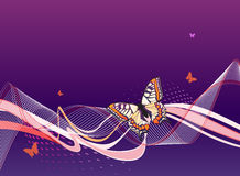 abstrakcjonistyczni tła błękit motyle Fotografia Royalty Free