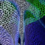 abstrakcjonistyczni tła binary kody ilustracja wektor