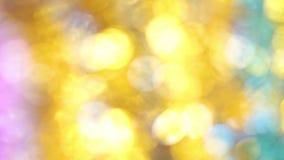 abstrakcjonistyczni tła bokeh boże narodzenia Unfocused świecidełko zamknięty w górę strzału zdjęcie wideo