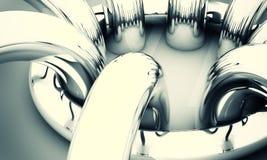 abstrakcjonistyczni tła chromu pierścionki Fotografia Stock