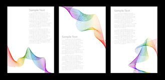 abstrakcjonistyczni tła koloru tęczy szablony Fotografia Royalty Free