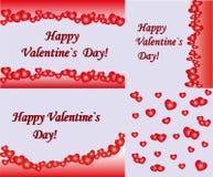 abstrakcjonistyczni tła kopii dzień serca umieszczają tekstów valentines Ilustracji