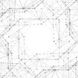 Abstrakcjonistyczni tła molekuły zaświecają - szare linie Obraz Royalty Free