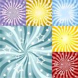 abstrakcjonistyczni tła promienie ustawiający słońce Zdjęcie Stock