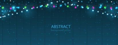 abstrakcjonistyczni tło światła Rozjarzony żarówka projekt Zdjęcie Stock