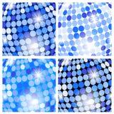 abstrakcjonistyczni tło błękit okręgi Obrazy Stock