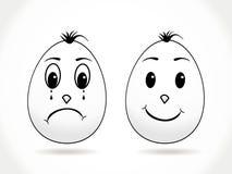 abstrakcjonistyczni tła Easter jajka Zdjęcia Stock