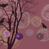 abstrakcjonistyczni tła elementów kruki drzewni Zdjęcia Stock