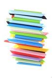 Abstrakcjonistyczni tła koloru papieru tubka superimposed wpólnie Zdjęcie Stock