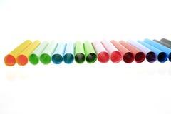 Abstrakcjonistyczni tła koloru papieru tubka superimposed wpólnie Zdjęcia Stock