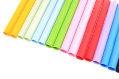 Abstrakcjonistyczni tła koloru papieru tubka superimposed wpólnie Fotografia Royalty Free