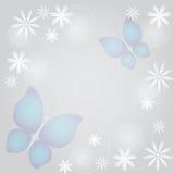 abstrakcjonistyczni tła motyli kwiaty Obraz Stock