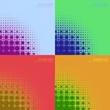 abstrakcjonistyczni tło koloru halftones Fotografia Royalty Free