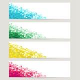 Abstrakcjonistyczni tła z błękita, zieleni, koloru żółtego i czerwieni kryształami, Zdjęcie Royalty Free