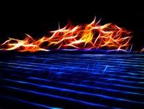 Abstrakcjonistyczni tanów płomienie Obrazy Stock