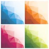 Abstrakcjonistyczni trójboków tła z kropkami Obrazy Stock