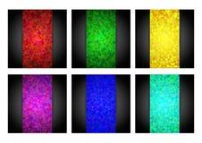 Abstrakcjonistyczni trójboków tła ustawiający Zdjęcia Royalty Free