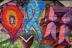 Abstrakcjonistyczni uliczni graffiti Obraz Royalty Free