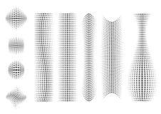 abstrakcjonistyczni ustaleni kształty Obrazy Royalty Free
