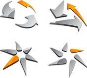 abstrakcjonistyczni ustaleni symbole Zdjęcie Stock