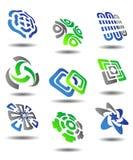 abstrakcjonistyczni ustaleni symbole Zdjęcia Stock