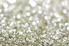 Abstrakcjonistyczni wakacje srebro i mosiądz zaświecają na tle fotografia stock