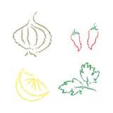 abstrakcjonistyczni warzywa owocowe zdjęcia royalty free