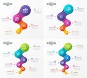 Abstrakcjonistyczni wektorowi infographic projekty Linii czasu pojęcie z 4 5 Zdjęcia Stock