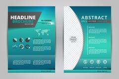 Abstrakcjonistyczni wektorowi nowożytni ulotek broszurki, sprawozdania rocznego /design szablony/materiały z białym tłem w rozmia Fotografia Royalty Free
