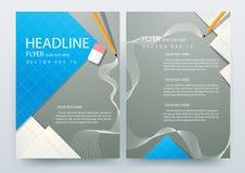 Abstrakcjonistyczni wektorowi nowożytni ulotki broszurki projekta szablony Obraz Royalty Free