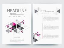 Abstrakcjonistyczni wektorowi nowożytni ulotki broszurki projekta szablony Fotografia Royalty Free