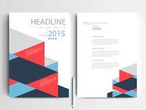 Abstrakcjonistyczni wektorowi nowożytni ulotki broszurki projekta szablony Zdjęcie Royalty Free