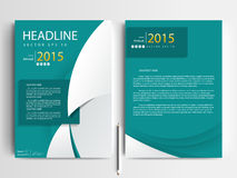 Abstrakcjonistyczni wektorowi nowożytni ulotki broszurki projekta szablony Obrazy Royalty Free