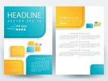 Abstrakcjonistyczni wektorowi nowożytni ulotki broszurki projekta szablony Fotografia Stock