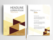 Abstrakcjonistyczni wektorowi nowożytni ulotki broszurki projekta szablony Obraz Stock