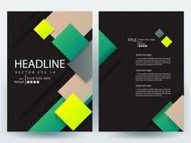 Abstrakcjonistyczni wektorowi nowożytni ulotki broszurki projekta szablony Zdjęcia Royalty Free
