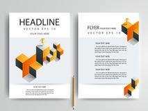 Abstrakcjonistyczni wektorowi nowożytni ulotki broszurki projekta szablony Zdjęcia Stock