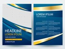 Abstrakcjonistyczni wektorowi nowożytni ulotki broszurki projekta szablony Zdjęcie Stock