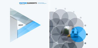 Abstrakcjonistyczni wektorowi projektów elementy dla graficznego układu Nowożytny biznesowy tło szablon z colourful trójbokami, Obrazy Stock