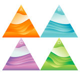 Abstrakcjonistyczni wektorowi trójboków sztandary ustawiający royalty ilustracja