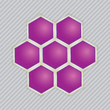 Abstrakcjonistyczni wizerunki cząsteczkowe struktury. Obrazy Stock