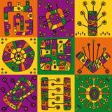 abstrakcjonistyczni wzory Obraz Stock