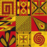 abstrakcjonistyczni wzory Obrazy Royalty Free