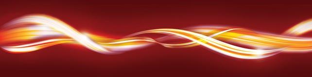 abstrakcjonistyczni złoci czerwoni lampasy Zdjęcia Stock