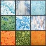 Abstrakcjonistyczni zawijasów tła robić od puszki farba Zdjęcia Stock