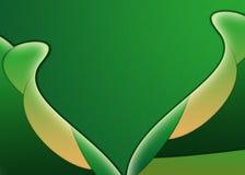 abstrakcjonistyczni zieleni płatki Obrazy Stock